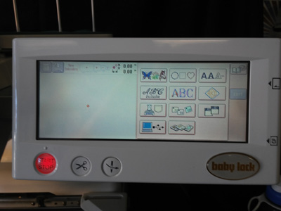 Baby Lock EMP6 Embroidery Machine Control Panel